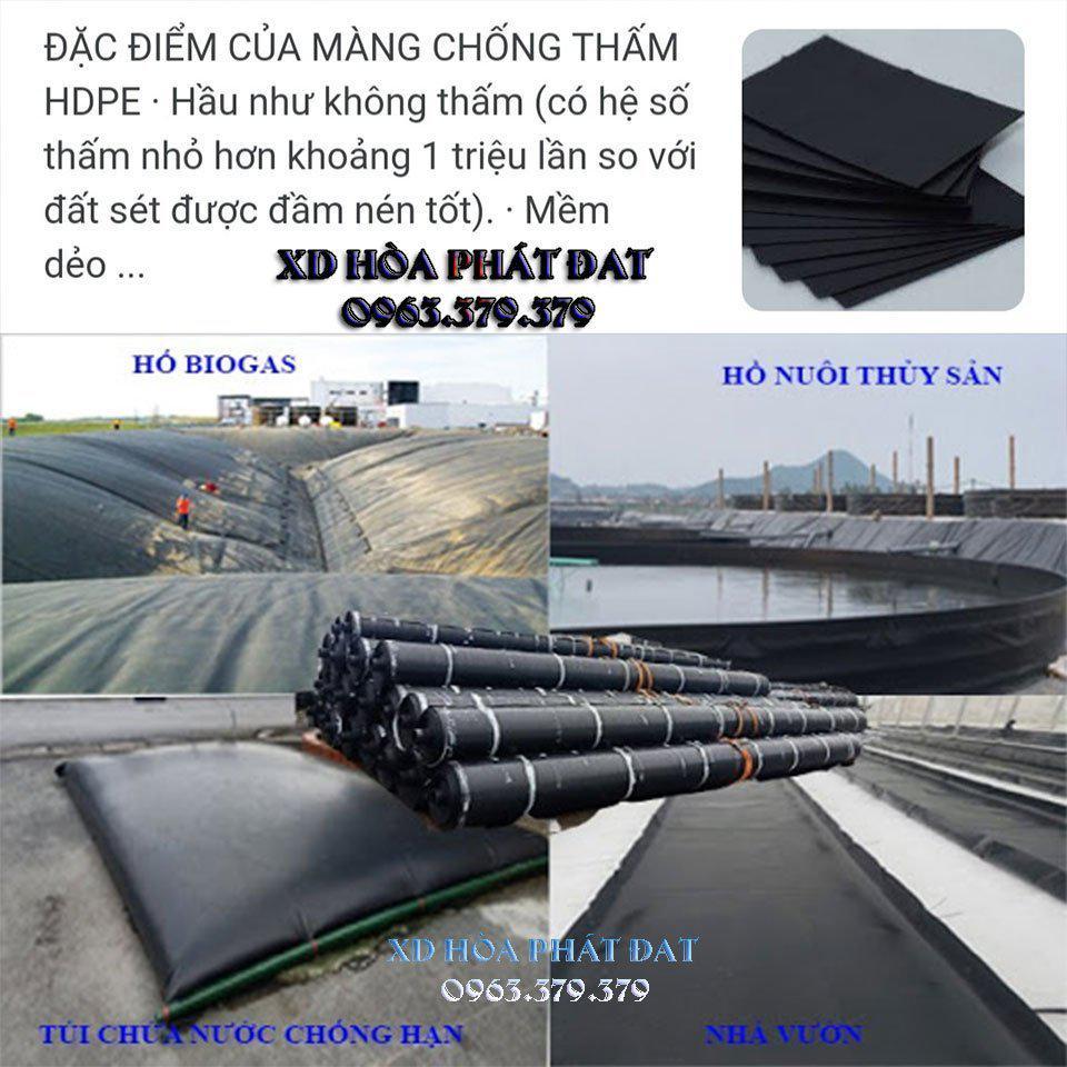 Báo giá bán lẻ bạt lót hồ chứa nước HDPE 0.3mm đến 0.5mm giá rẻ