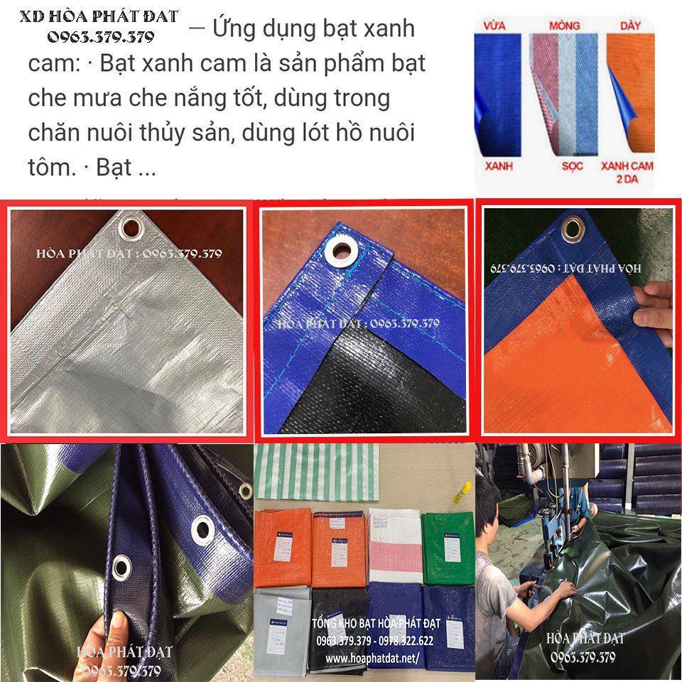 Báo giá bạt nhựa xanh cam khổ 2m, 4m, 6m, 8m tính theo m2